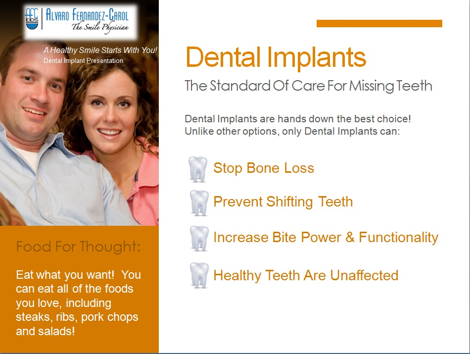 dental implants are the standard in care for missing teeth